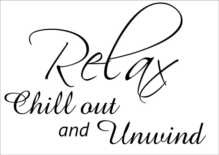 relax wall quotes art wall stickers wall decals wall mural