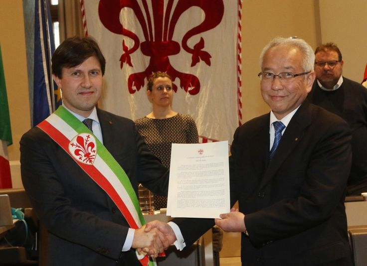 Firenze, cittadinanza onoraria al filosofo buddista Daisaku Ikeda