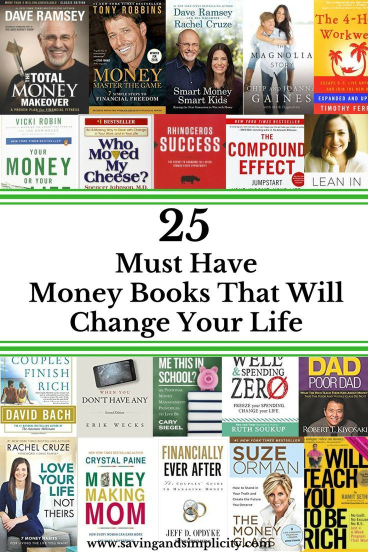 These 25 Money Books Will Change Your Life For The Better You Will Earn,
