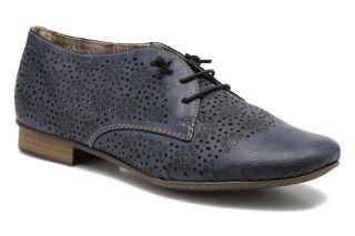 Pantofi dama fara toc piele perforata Rieker