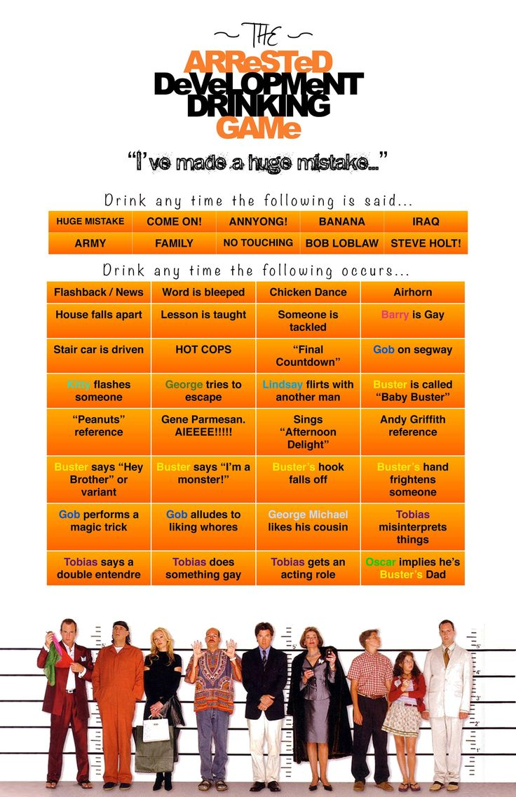 Made this Arrested Development Drinking Game based on rules I ...