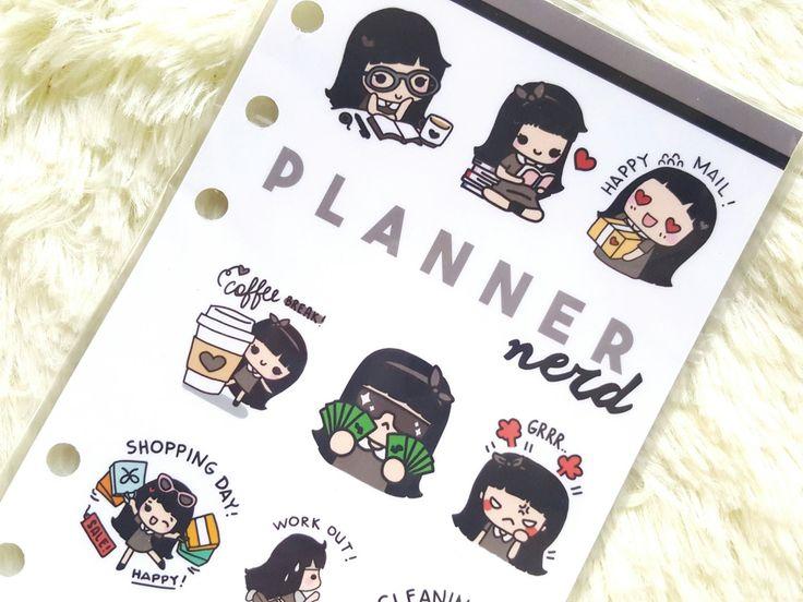 Planner Nerd Dashboard Personal Size by keenaprints