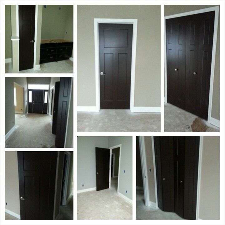 sherwin williams black bean interior doors i am so glad i didn 39 t chicken out and had these. Black Bedroom Furniture Sets. Home Design Ideas