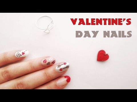 Valentine's Day Nail Designs - YouTube