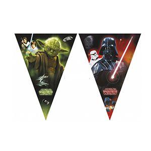 Star Wars Desenli Bayrak Flama Süs, doğum günü konsepti malzemeleri
