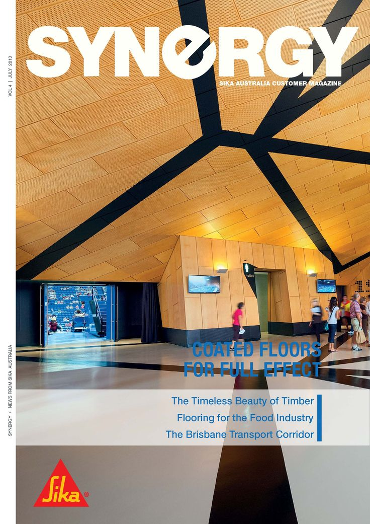 Welcome to Synergy #4, the Sika Australia Customer Magazine! Featuring our great work on the decorative #flooring in the Perth Arena.