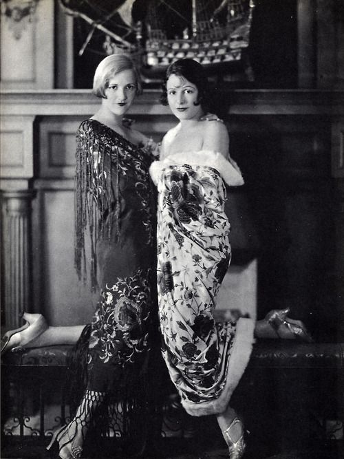 Portrait of Constance and Norma Talmadge, 1920's