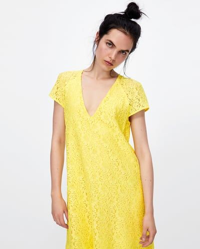 image 2 of short lace dress from zara spitzenkleid kurz