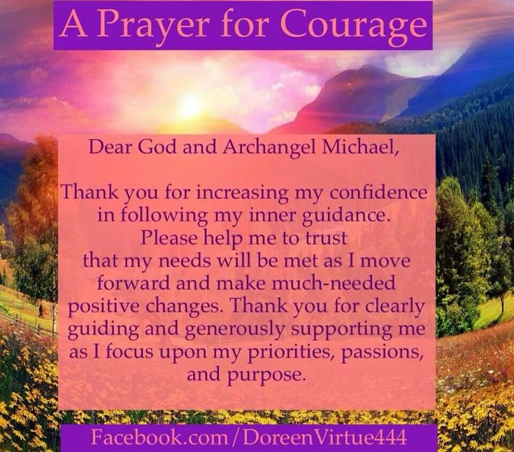 A prayer for courage