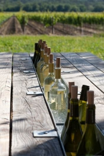 omg - coolest twist on an outdoor farm table