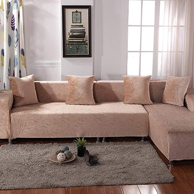 Hysenm 1 2 3 Seater Sofa Cover Jacquard Fabric Stretch Elastic