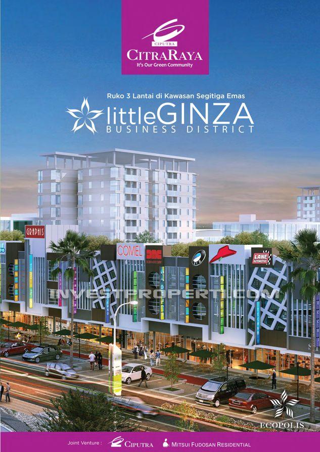 """Brosur Ruko Citra Raya Cikupa """"Little Ginza"""" Business District"""