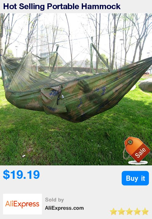 Hot Selling Portable Hammock Single-person Folded Into The Pouch Mosquito Net Hammock Hanging Bed For Travel Kits Camping Hiking * Pub Date: 22:43 Sep 14 2017