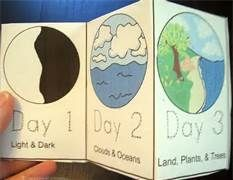 7 days of creation crafts - Bing Images - use these for the popsicle stick tops for Creation Quiz Game