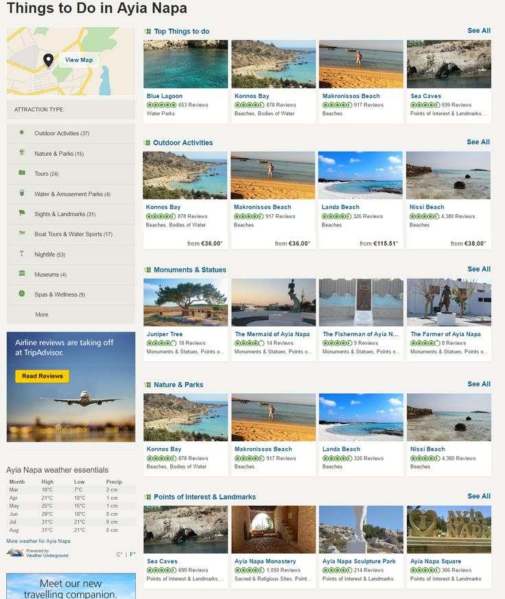 Find the top things to do in Ayia Napa on TripAdvisor