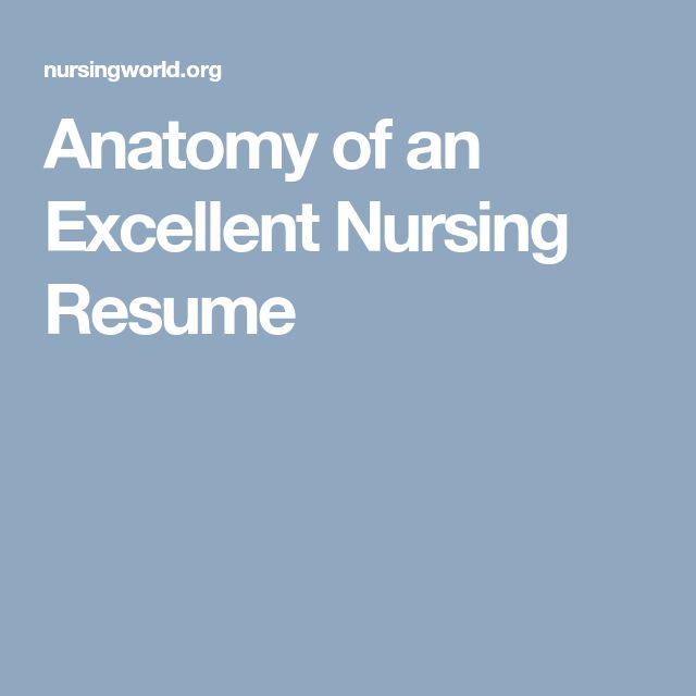 how to build the best nursing resume