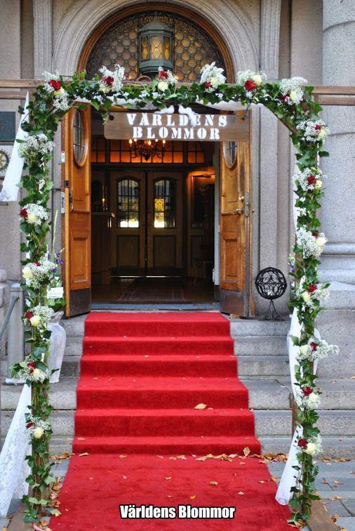 WEDDING ARCH BRUDBÅGE BRÖLLOP Fest- & Bröllopsmässan Örenäs Slott Världens Blommor Norra Långgatan 16 Landskrona 0418 65 11 59 Blomsterbutik