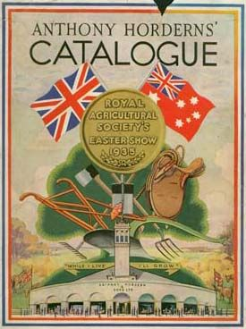 Cover of catalogue: Anthony Hordern & Sons, Royal Agricultural Society's Easter Show 1935, Sydney. Caroline Simpson Library & Research Collection, HHT. Photograph © HHT