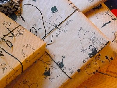 Moomins wrapping paper!! I'd never open the present incase I ruined it!!