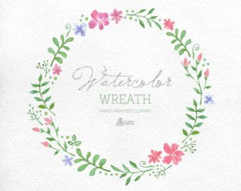 Lavender Watercolour Bouquets & Wreath Clipart. by OctopusArtis