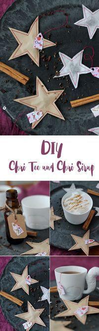 DIY Chai Tee und Chai Sirup - Geschenke aus der Küche - DIY Teebeutel nähen in Sternenform