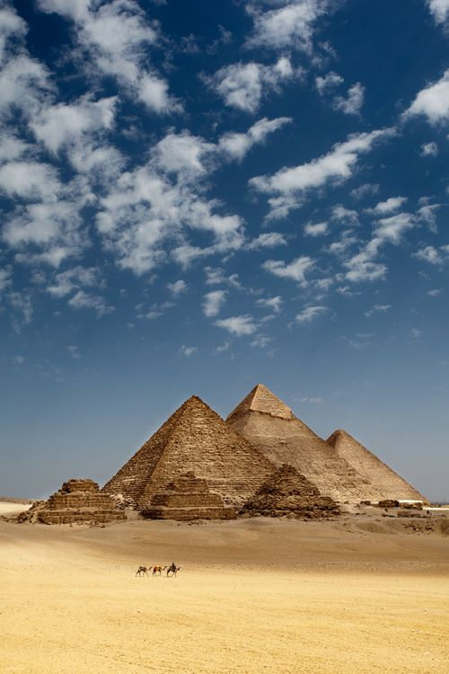 Ah, the pyramids at Giza. I feel as if I lived here once. Before there were…