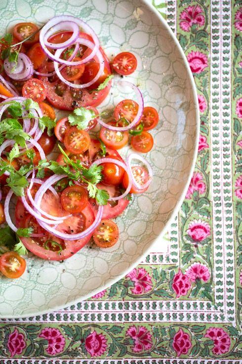 The Food Fox   kachumbari salad (tomato, red onion, coriander, chilli)