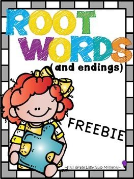 This packet can be used to teach, review and assess root words and endings.