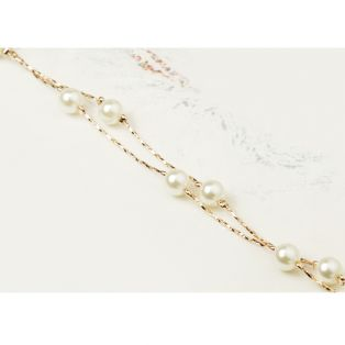 Set bijuterii cu Swarovski Simple Gold Pearls