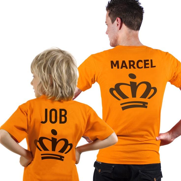 Oranje shirts voor kinderen en volwassenen, zo ben je helemaal in stijl op koningsdag. €14,95
