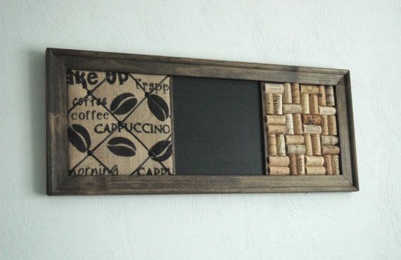 French Memo Board  Wine Cork board & Chalkboard by KaiHinaCoastal, $73.00