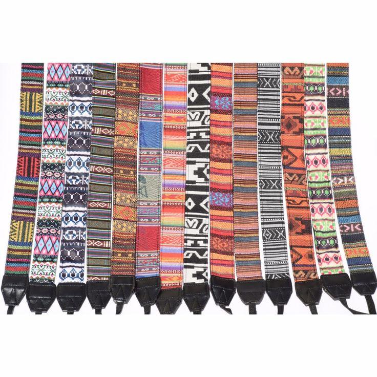Neck/Shoulder Multicolored Cotton Camera Strap Belt //Price: $9.95 & FREE Shipping //     }