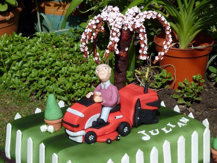 Julian's sit on lawn mower!