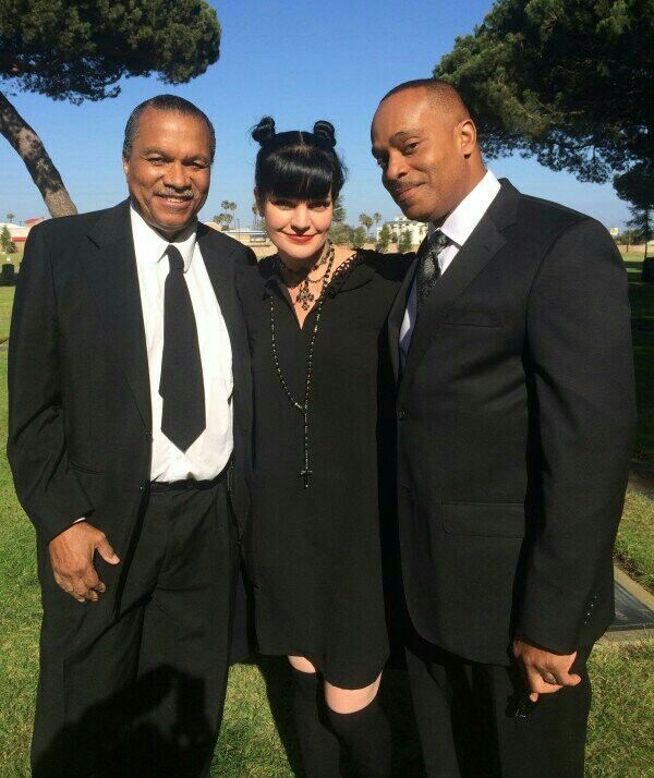 Billy Dee Williams, Pauley Perrette and Rocky Carroll NCIS. Abby, great tv, show, series, NCIS, photo