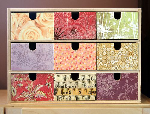 Another IKEA hack...It started life as a 9 drawer IKEA FIRA and they used decoupage