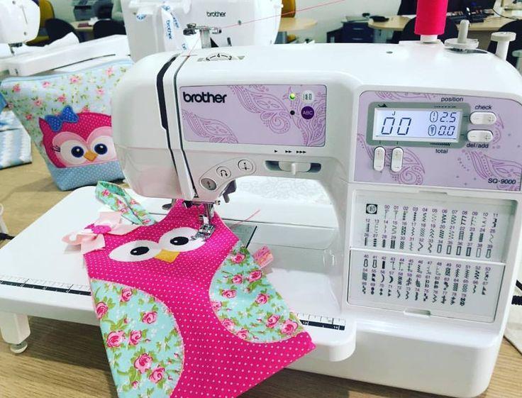 Trabalho coruja técnica Patch Apliquê na máquina de costura Brother SQ9000.
