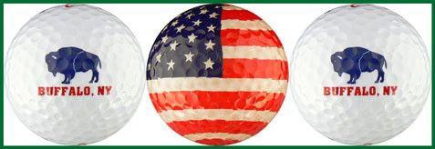 Buffalo, NY w/ Buffalo & USA Crystal Flag - BFLO