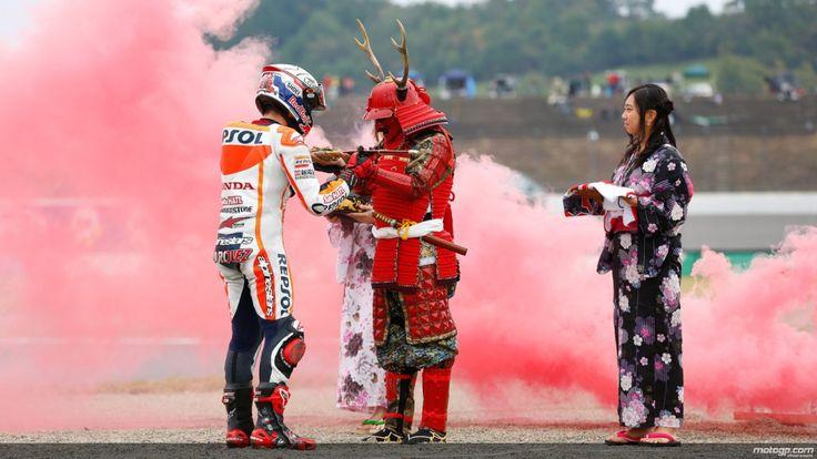 Marc Marquez Samurai MotoGP Japon 2014