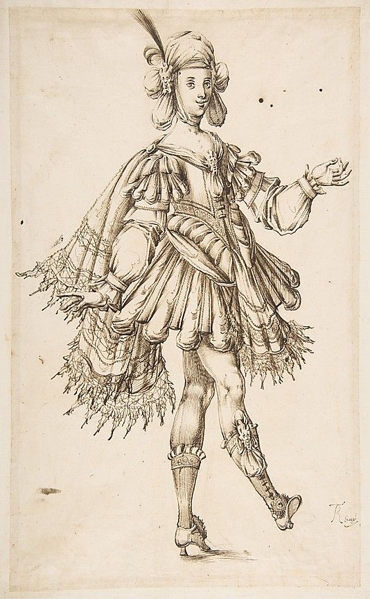 how to draw 17th century costumes