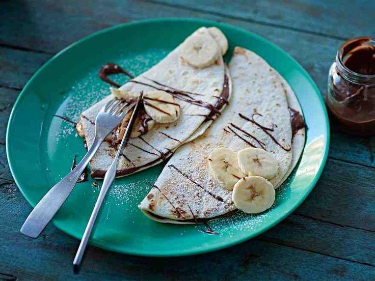Banaani-nutellaquesadillat - Reseptit