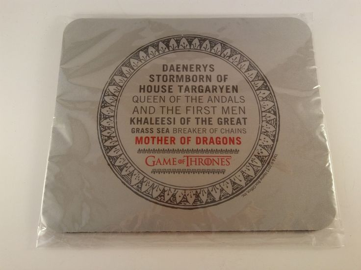 Official Game of Thrones Daenerys Full Name Non Slip Mouse Pad Mat - FREE SHIP! #UnbrandedGeneric