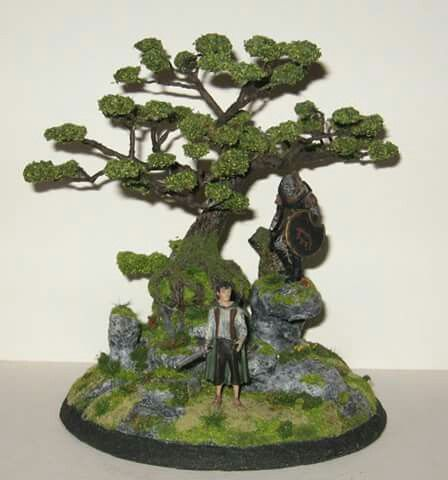 Diorama fantasy Frodo , Lord of the Rings.