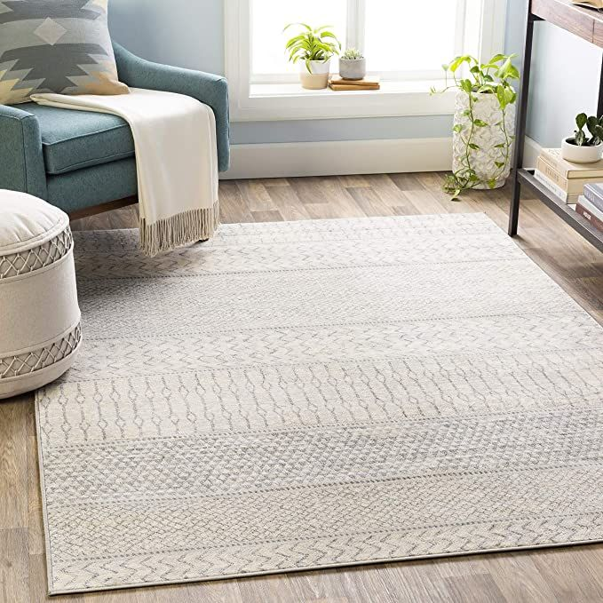Amazon Com Artistic Weavers Hana Area Rug 7 10 X 10 3 Silver Grey Kitchen Dining In 2020 Area Rugs For Sale Bohemian Area Rugs Area Rugs