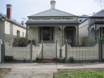 Timber Picket Fence With Gates, Posts & Letterbox