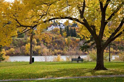 SASKATOON | A riverbank park in downtown Saskatoon