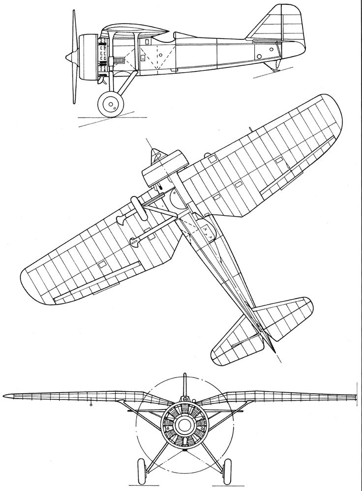 PZL P.7 blueprint