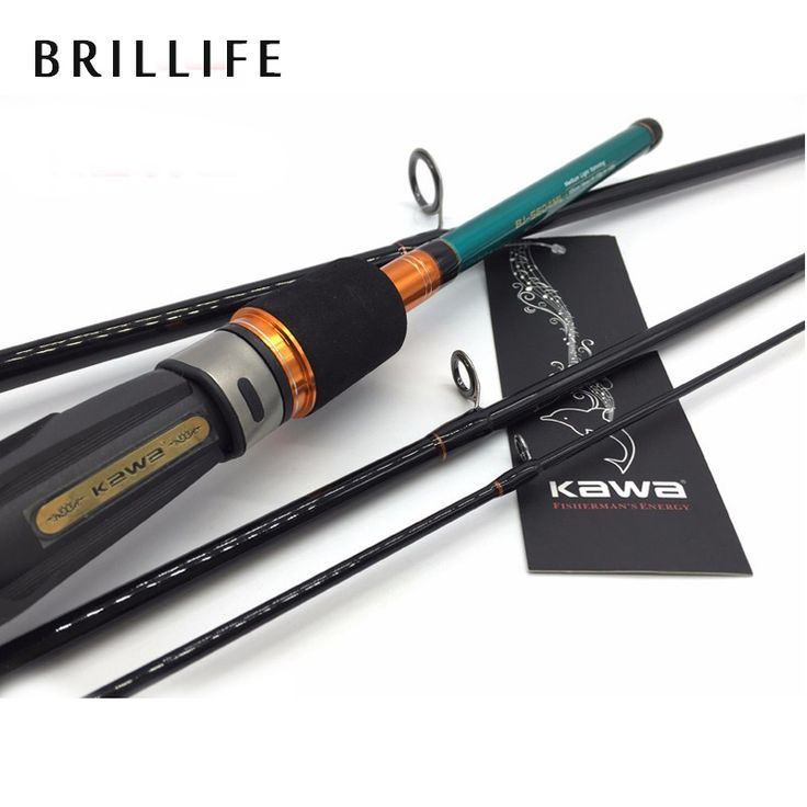 BRILLIFE Lure Rod Spinning Carbon Fiber Spinning Rod 4 Section 198cm ML Travel Fishing Rod 7-28g Lure Weight