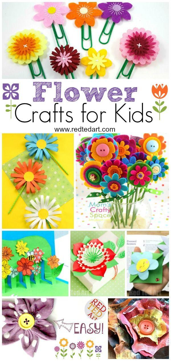 Flower Crafts for Kids via Red Ted Art