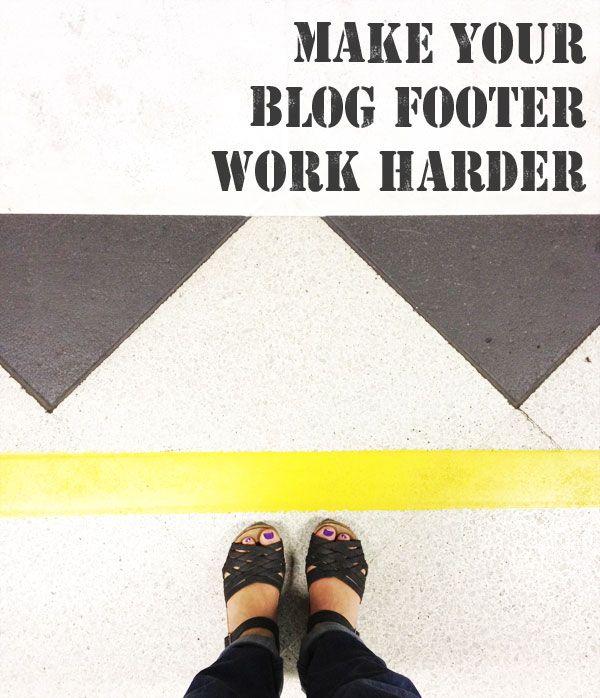 Make your blog or website footer work harder