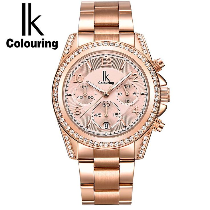 Like and Share if you want this  IK colouring Rose Gold Women Watch Chronograph Sub Dial Full Steel Crystal Rhinestone Fashion Dress Auto Date Quartz Watches     Tag a friend who would love this!     FREE Shipping Worldwide     Buy one here---> https://bestonlinewatches.com/ik-colouring-rose-gold-women-watch-chronograph-sub-dial-full-steel-crystal-rhinestone-fashion-dress-auto-date-quartz-watches/